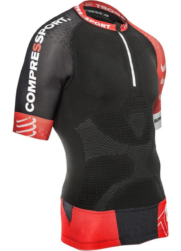 79d508883135 Компрессионная футболка Compressport Trail V2 с карманами для воды или  спортивного питания