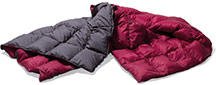 Одеяло туристическое Yeti Duvet Packable Down Blanket AshCoal-Garnet