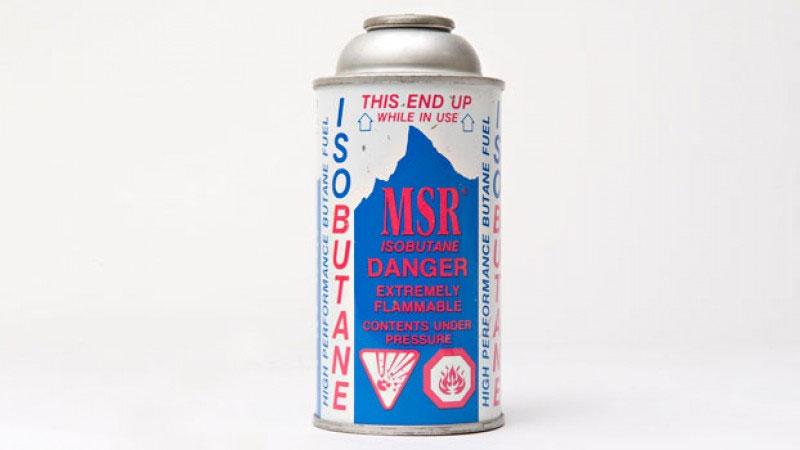 Первые баллоны с газовой смесью MSR IsoPro имели цанговый стандарт