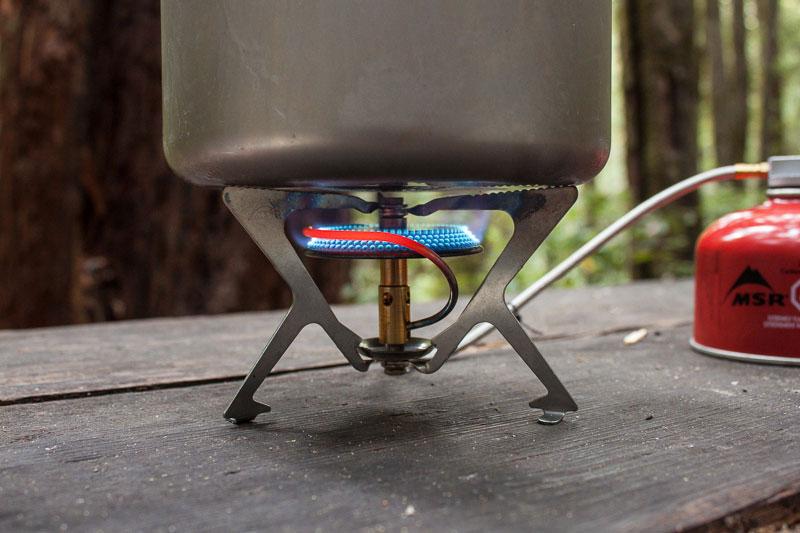 Раскалённая трубка предварительного подогрева на газовой горелке MSR WindPro II
