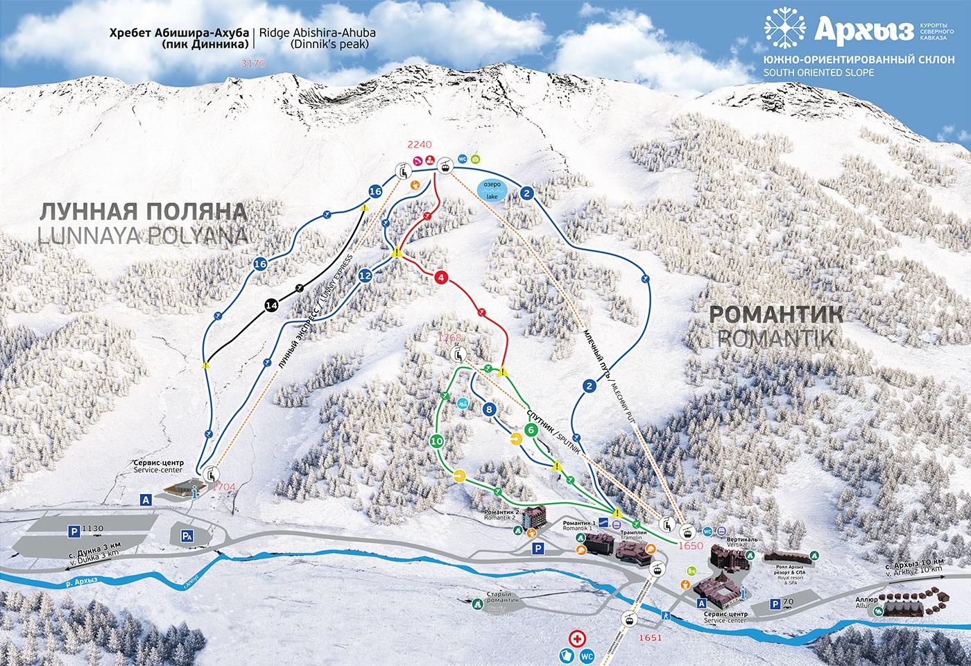 Обзор горнолыжного курорта Архыз — Блог «Спорт-Марафон»