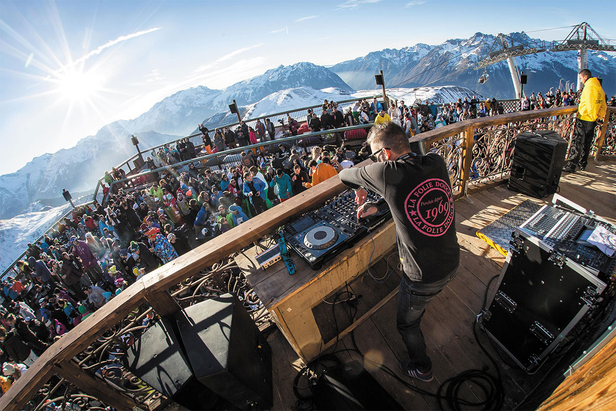 Вечеринка клуба La Folie Douce