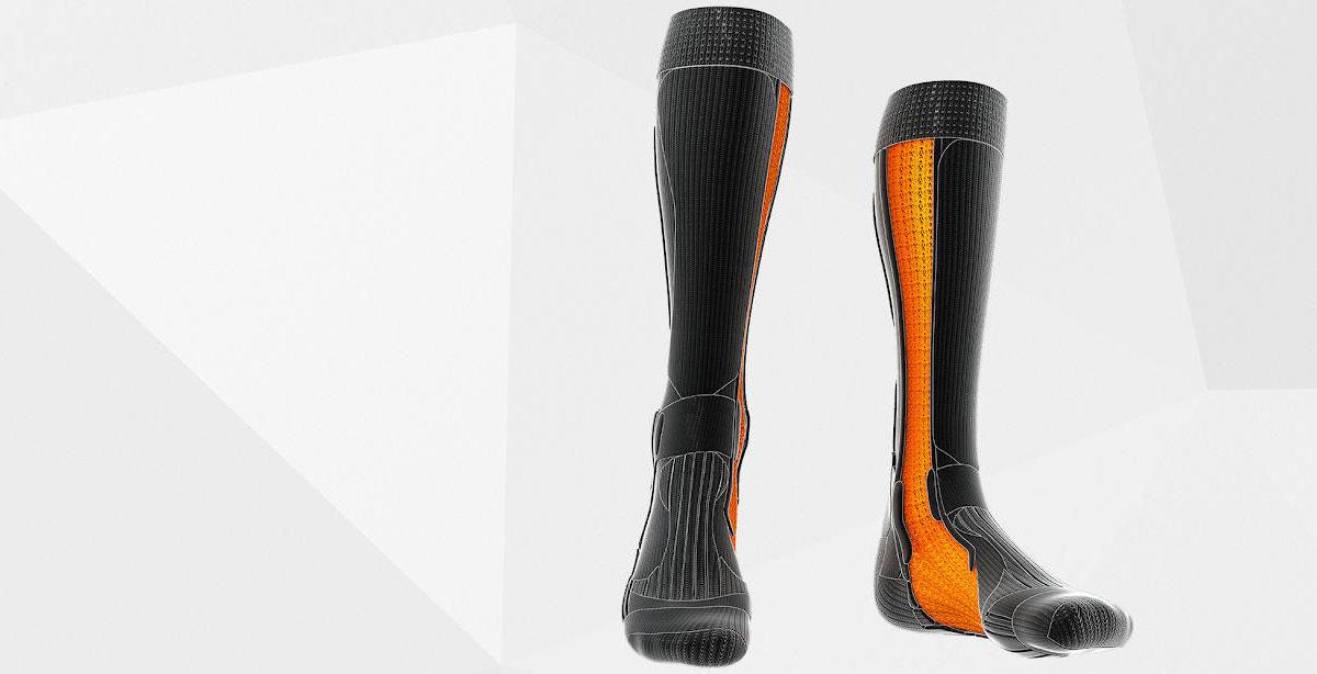 Вентиляционные каналы в носках X-Socks