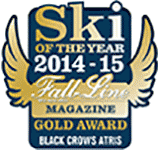 Fall Line Magazine Ski of the year Gold Award 2014-2015