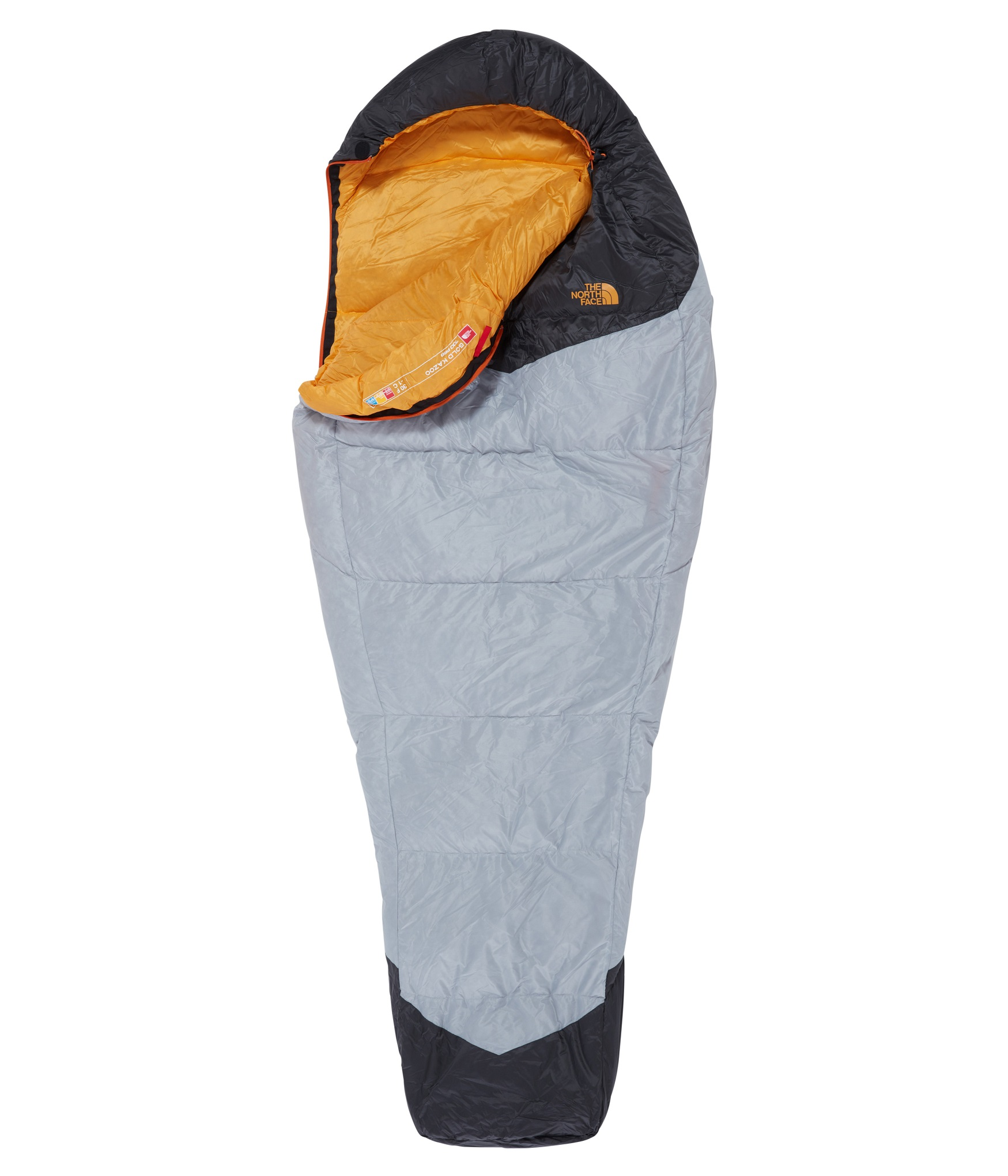 Спальник The North Face Gold Kazoo High Rise Grey/Radiant Yellow - Фото 1 большая
