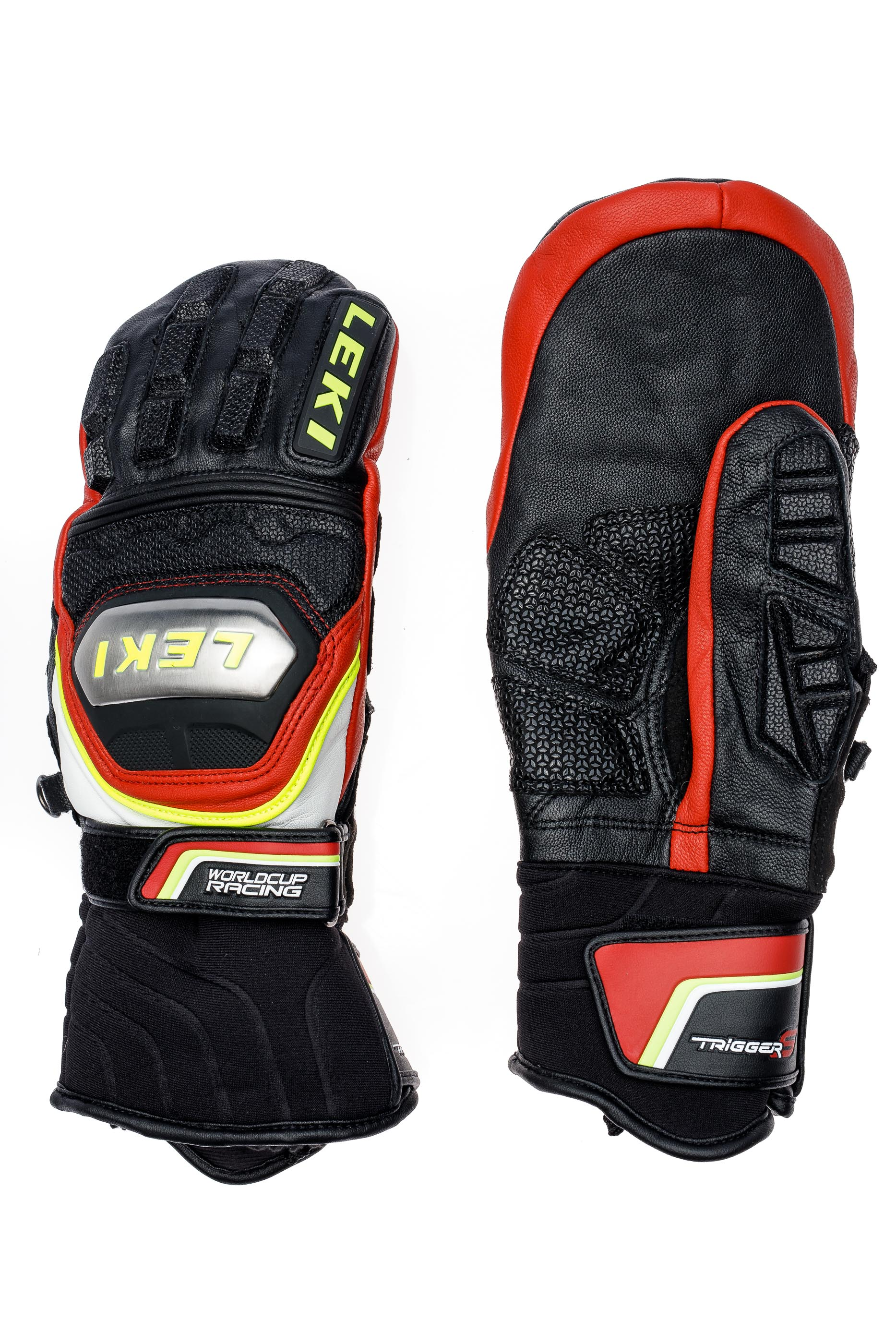 Варежки мужские Leki Worldcup Race TI S Mitten Speed System Black/Red/White/Yellow - Фото 2 большая