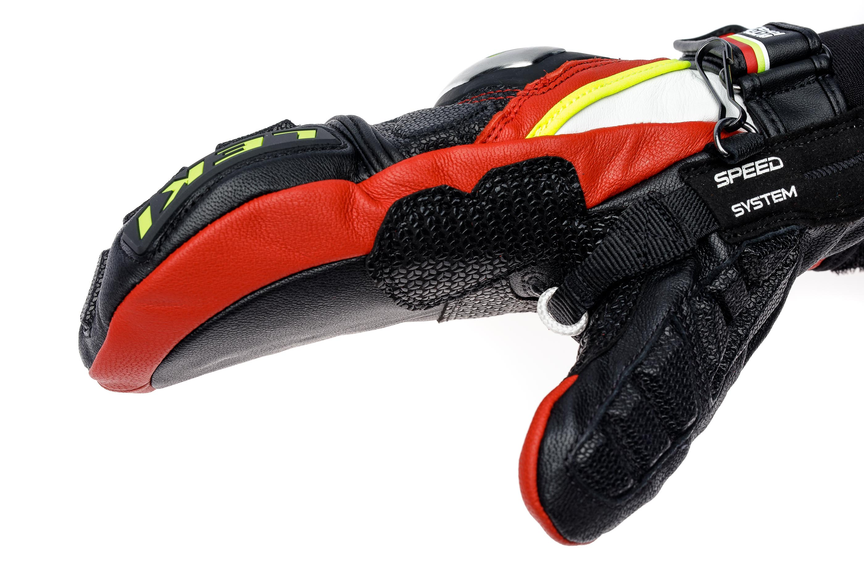 Варежки мужские Leki Worldcup Race TI S Mitten Speed System Black/Red/White/Yellow - Фото 3 большая