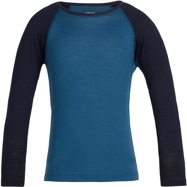 Футболка детская Icebreaker 200 Oasis LS Crewe Prussian Blue/Midnight Navy - Фото 1 большая