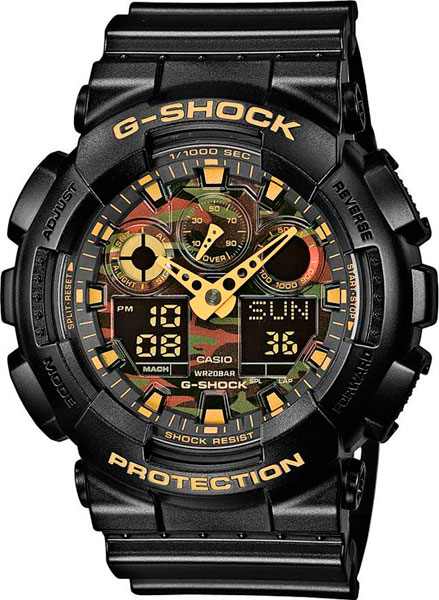 Часы Casio G-Shock GA-100CF-1A9 - Фото 1 большая