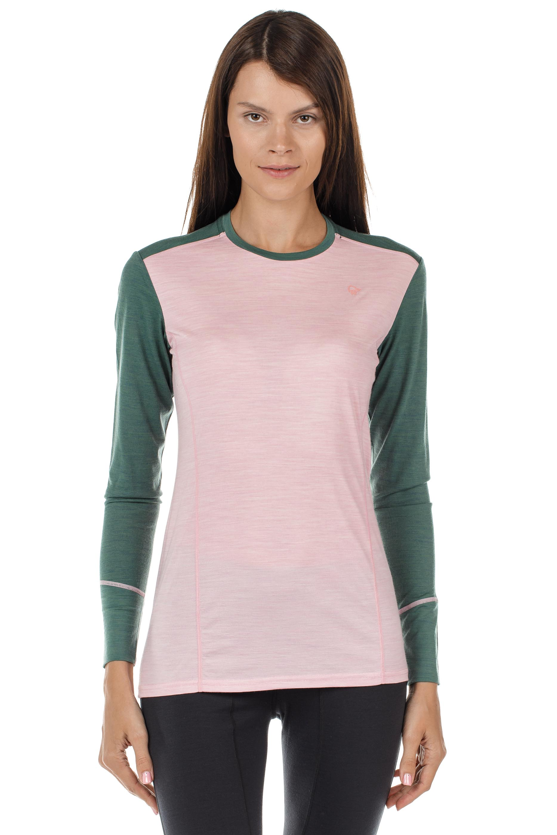 Футболка женская Norrona Wool Round Neck Candy Pink - Фото 2 большая