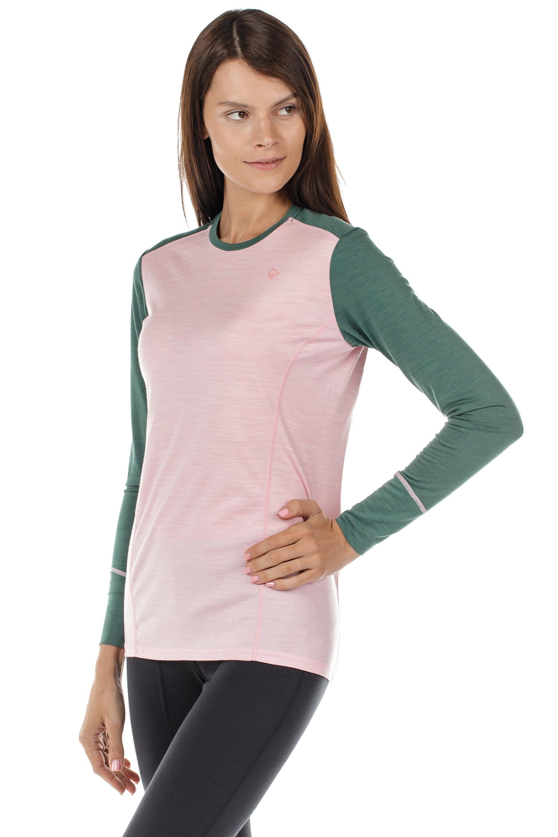 Футболка женская Norrona Wool Round Neck Candy Pink - Фото 3 большая