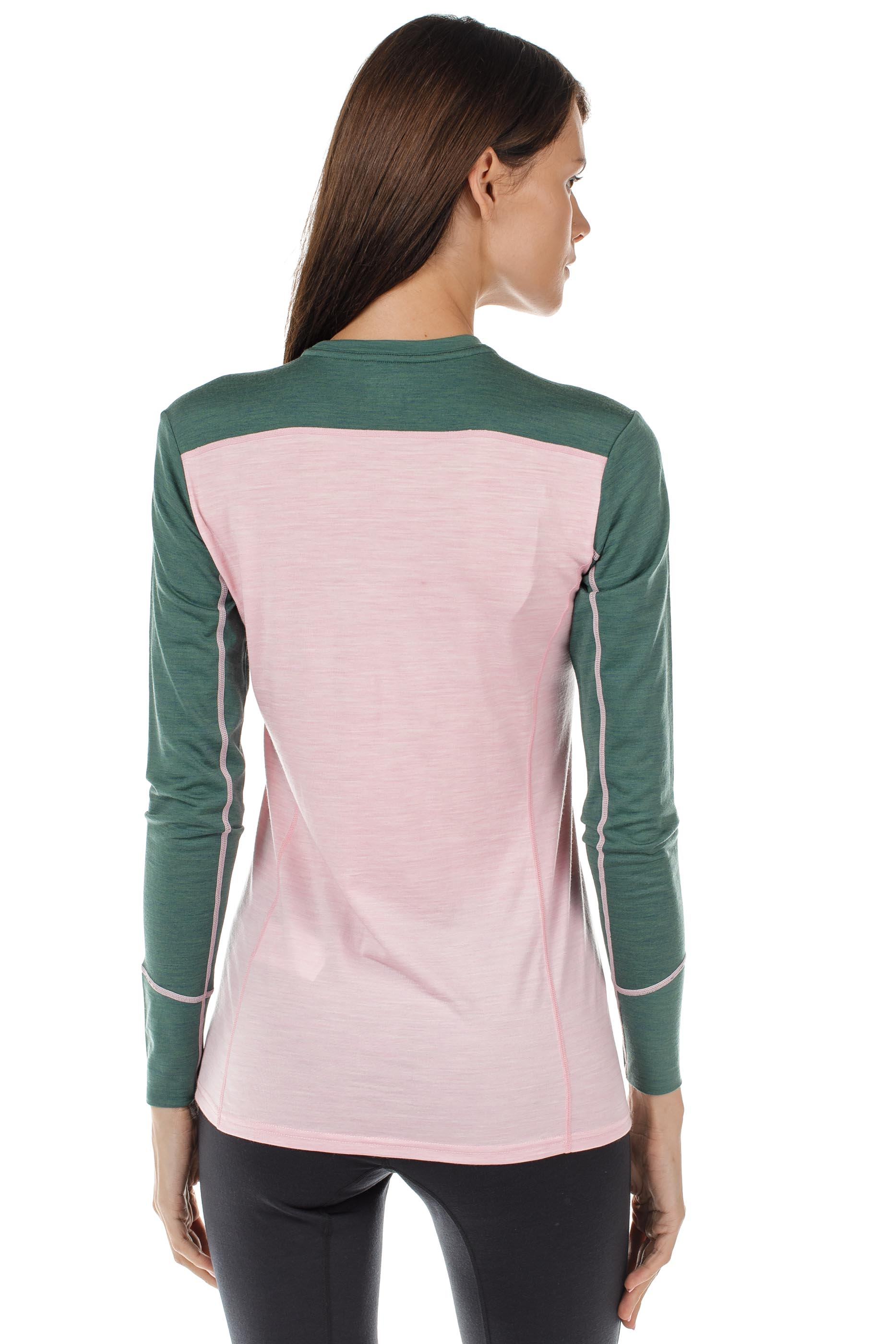 Футболка женская Norrona Wool Round Neck Candy Pink - Фото 4 большая