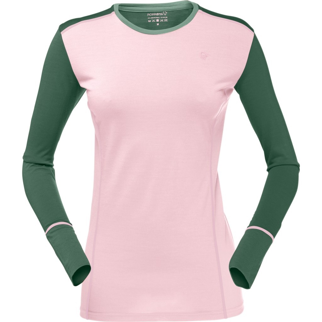 Футболка женская Norrona Wool Round Neck Candy Pink - Фото 1 большая