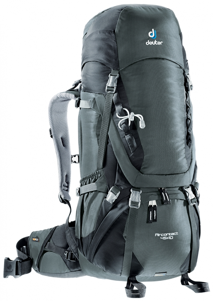 Рюкзак Deuter Aircontact 45+10 Granite-Black - Фото 1 большая
