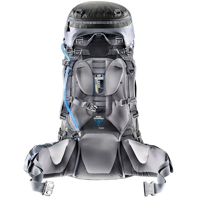Рюкзак Deuter Aircontact 45+10 Granite-Black - Фото 2 большая