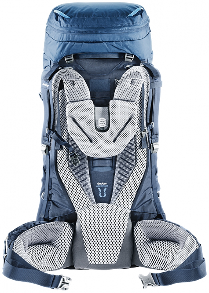 Рюкзак Deuter Aircontact 75 + 10 Midnight-Navy - Фото 2 большая