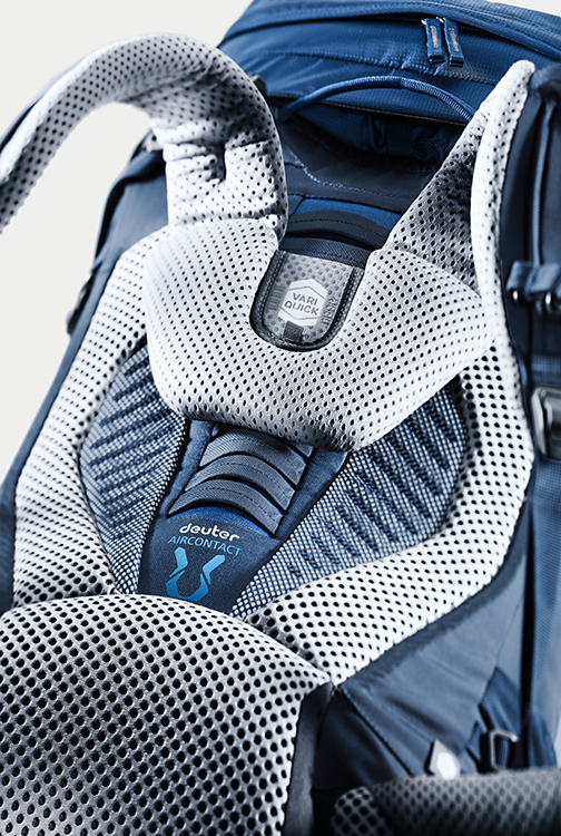 Рюкзак Deuter Aircontact 75 + 10 Midnight-Navy - Фото 3 большая