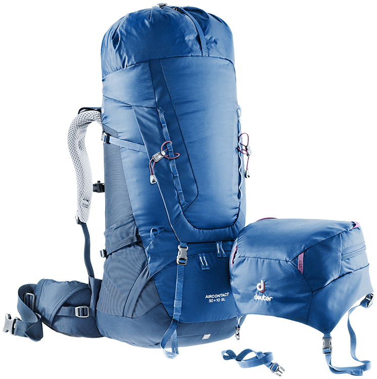 Рюкзак Deuter Aircontact 75 + 10 Midnight-Navy - Фото 6 большая