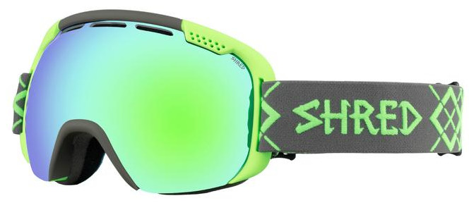 Горнолыжная маска Shred Smartefy Bigshow Grey-Green CBL/Plasma Grey/Neon Green - Фото 1 большая