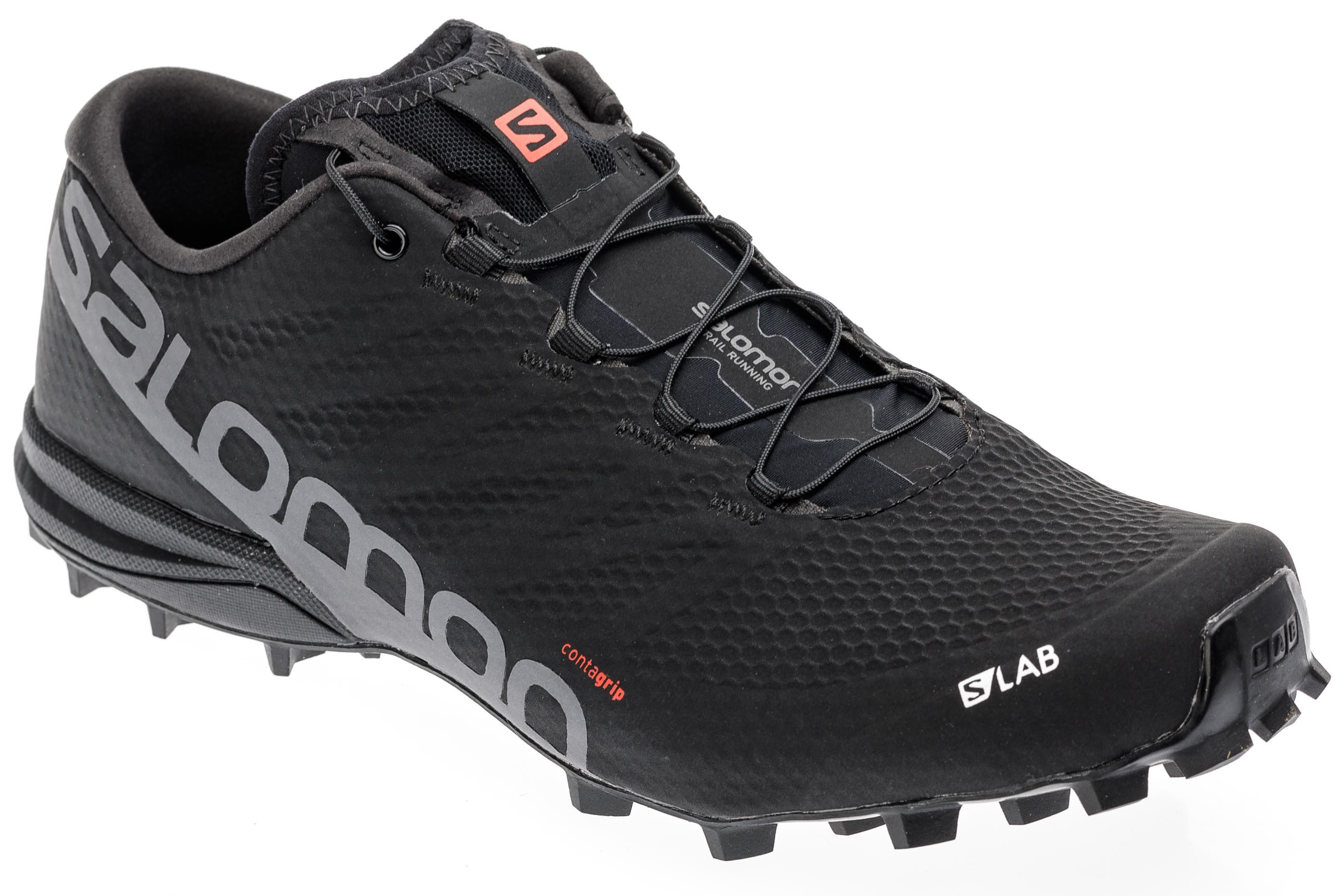e34b740a Кроссовки мужские Salomon S-Lab Speed 2 Black/Racing Red/White - Фото