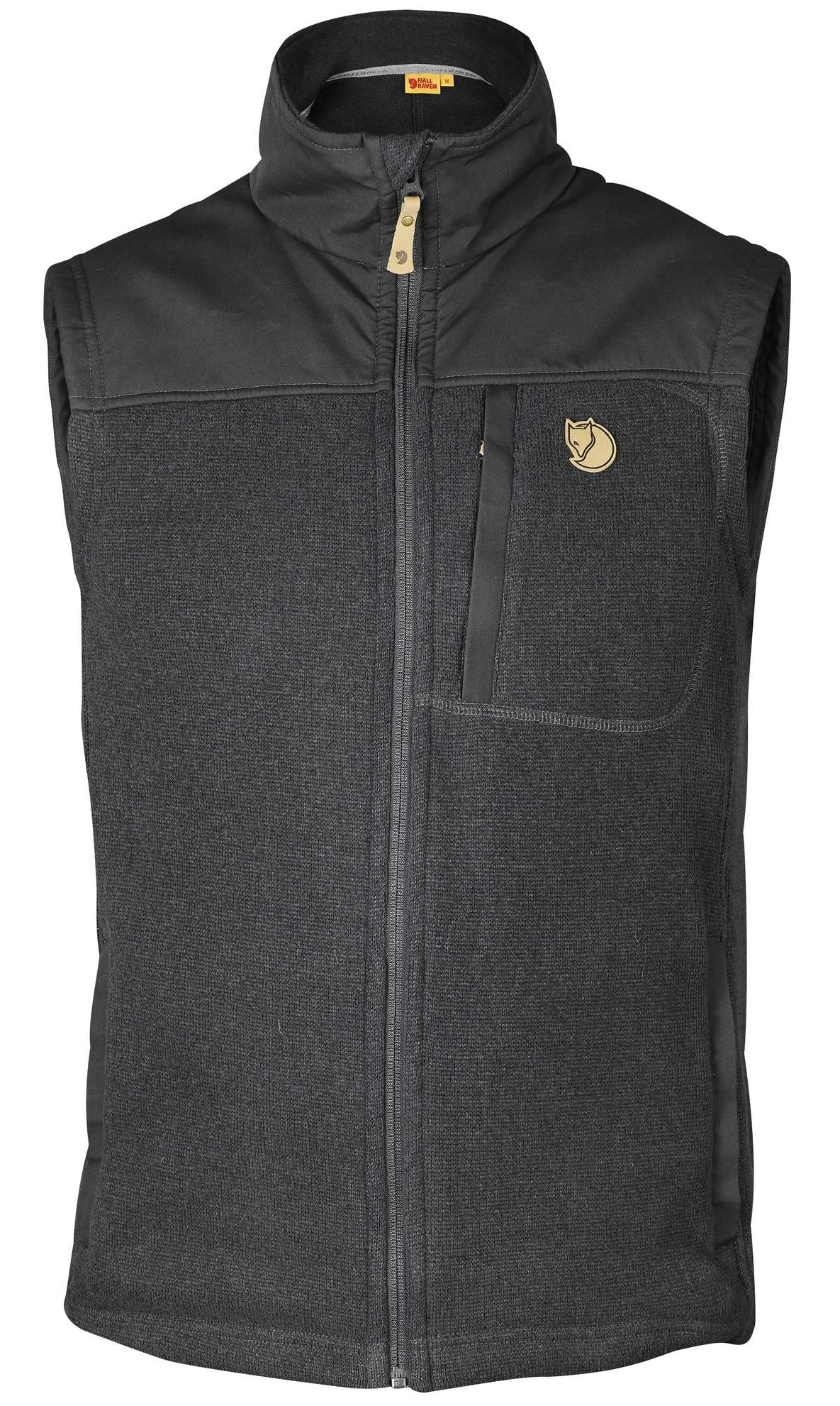 Жилет мужской Fjallraven Buck Fleece Graphite-Dark Grey - Фото 1 большая