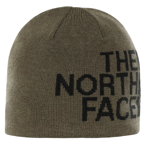 Шапка The North Face Reversible Tnf Banner New Taupe Green/Tnf Black - Фото 1 большая