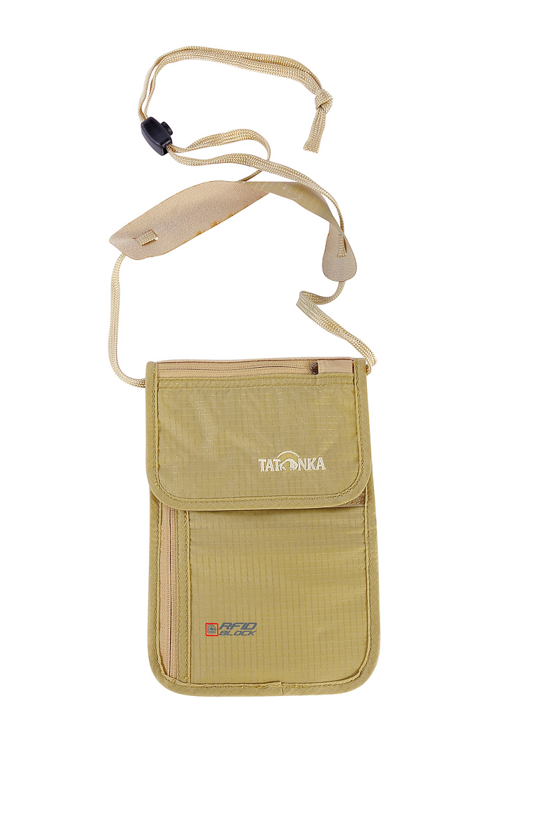 Кошелек Tatonka Skin Neck Pouch RFID Natural - Фото 1 большая