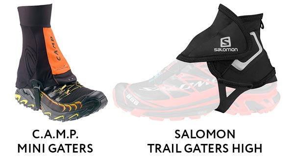 Salomon Trail Gaiters High, C.A.M.P. mini gaters