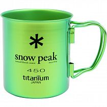 Кружка Snow Peak Titanium Single 450 Green