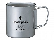 Кружка Snow Peak Titanium Double 220