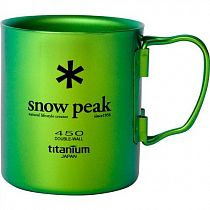 Кружка Snow Peak Titanium Double 450 Green