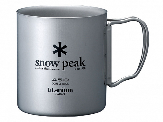 Кружка Snow Peak Titanium Double 450
