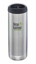 Термокружка Klean Kanteen TKWide Cafe Cap 0,47 Brushed Stainless