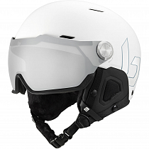 Горнолыжный шлем Bolle Might Visor Premium Mips White Matte