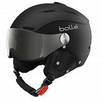 Горнолыжный шлем Bolle Backline Visor Soft Black/Silver/Silver Gun/Lemon