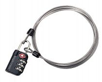 Замок Eagle Creek 3-Dial TSA Lock&Cable Graphite