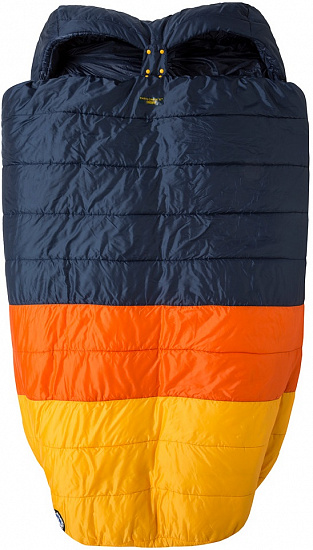 "Спальный мешок Big Agnes Cabin Creek 15 (FireLine Eco) 40"" Double Wide Navy/Orange/Yellow - Фото 1 большая"