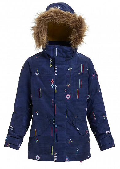 Куртка детская Burton Girls Aubrey Camp Craft - Фото 1 большая