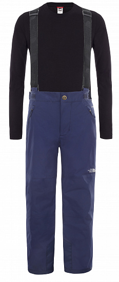 Брюки детские The North Face Snowquest Suspender Plus Montague Blue - Фото 1 большая