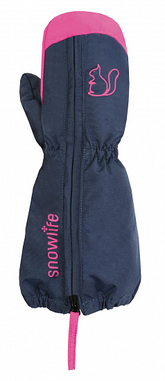 Варежки детские Snowlife Mini Navy/Pink - Фото 1 большая