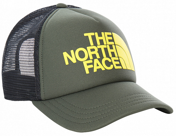 Кепка детская The North Face Logo Trucker Thyme/Lemon - Фото 1 большая