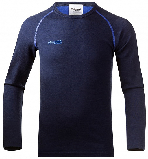 Футболка детская Bergans Akeleie Youth Navy/Warm Cobalt - Фото 1 большая