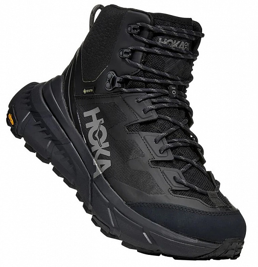 Ботинки мужские Hoka Tennine Hike Gtx Black/Dark Gull Gray - Фото 1 большая