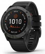 Часы Garmin Fenix 6X Pro Solar Carbon Gray/Black