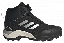 Кроссовки детские Adidas Terrex Winter Mid Core Black/Silver Metallic/Core Black