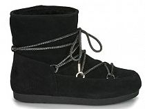 Сапоги женские Moon Boot Far Side Low Suede Black