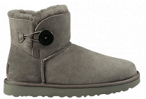 Ботинки женские UGG Mini Bailey Button Ii Grey
