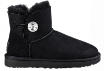 Ботинки женские UGG Mini Bailey Button Bling Black