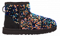 Ботинки женские UGG Classic Mini Stellar Sequin Black