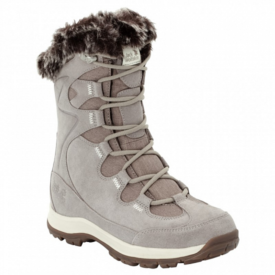 Ботинки женские Jack Wolfskin Glacier Bay Texapore High Light Grey / Champagne - Фото 1 большая
